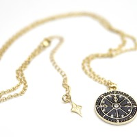 """MADNESS TAROT """"WHEEL OF FORTUNE"""" PENDANT NECKLACE"""