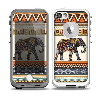 The Aztec Elephant Skin for the iPhone 5-5s frē LifeProof Case