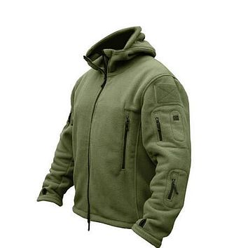 US Military Man Fleece tad Tactical Jackets Outdoor Polartec Thermal  Sport Polar Hooded Coat Outerwear Army Clothes