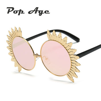 Pop Age Newest Women Sunglasses Sexy Cat Eye Sunglasses for Women FashionVintage High Quality Men lunette de soleil 400UV