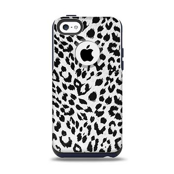 The Vector Leopard Animal Print Apple iPhone 5c Otterbox Commuter Case Skin Set