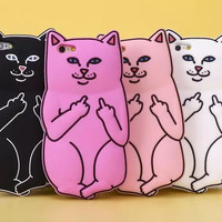Cute 3D Soft Silicon Cat Case For iPhone 7 7 plus iPhone 7 7 plus Iphone 6 6s / iphone 6 6s Plus / 5 5s +Nice gift box!