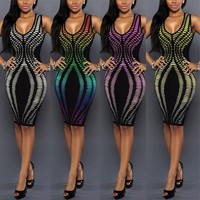 Cocktail Sleeveless Bodycon Evening Party Dresses