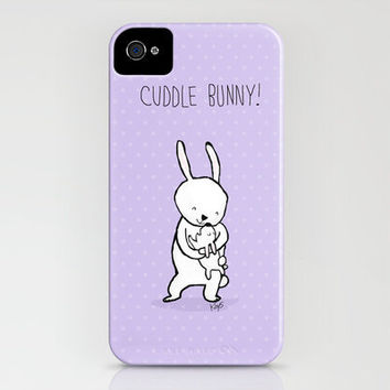 Cuddle Bunny iPhone Case by Dale Keys | Society6