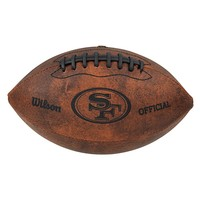Wilson San Francisco 49ers Throwback Youth-Sized Football (Brown)
