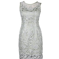 Dressystar Deluxe Grey Lace Dresses Sleeveless Christmas Women Dresses
