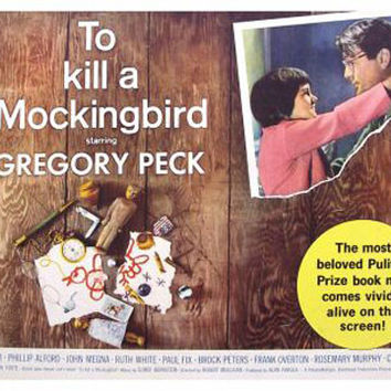 To Kill A Mocking Bird Vintage Movie Poster