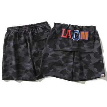 BAPE summer new wave brand step cloth tide sports pants beach pants men's shorts F-Great Me Store