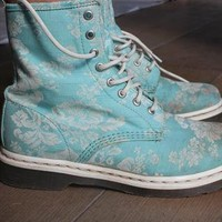 Blue Floral Canvas Dr Martens from TabiRosie