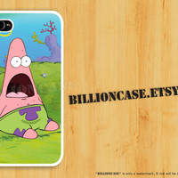 Patrick Star - iPhone 4 Case iPhone 5 Case iPhone 4s Case Galaxy Case Hard Plastic Case Rubber Case Movie SpongeBob Parody Shock Surprise