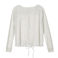 Split-back Drawstring Top - Super Soft Knits - Victoria's Secret