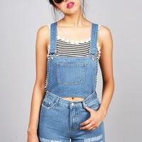 Convertible Short Denim Overall - Denim Overalls at Pinkice.com