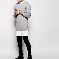ASOS Longline Jumper with zips