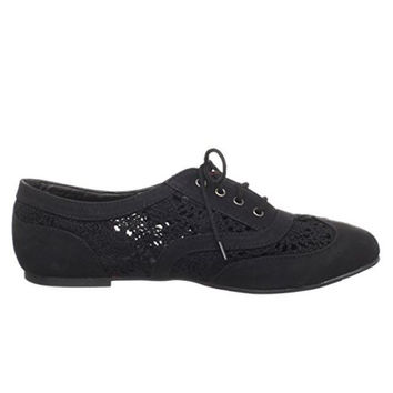 Wanted Neat - Black Lace-Up Oxford