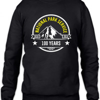 national park service 100 years funny Crewneck Sweatshirt