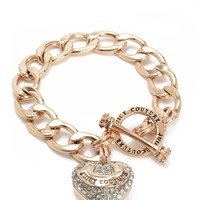 Pave Banner Heart Starter Bracelet by Juicy Couture, O/S
