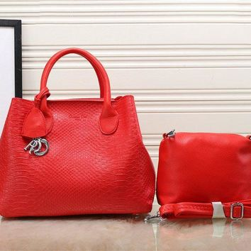 One-nice™ Dior Women Two piece bag like scales Tote Handbag Shoulder Bag H-YJBD-2H