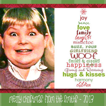 Home Alone Christmas Card Buzz Your Girlfriend Woof Funny Cute Holiday Download