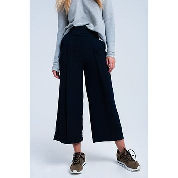 Navy pants wide leg