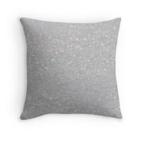 'Snow Sparkle' Throw Pillow by Carissariley