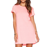 A Fine Line Everyday Tee Dress in Gem Pink