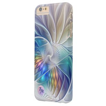 Floral Fantasy, abstract and modern, Monogram Barely There iPhone 6 Plus Case
