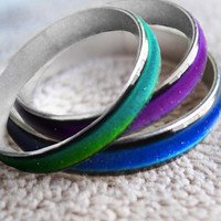 On Sale: Wide Band or MOOD RiNG with - Spell of Balance - Wicca Pagan