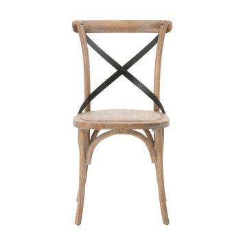 Grove Dining Chair Rattan Seat, Weathered (set of 2)