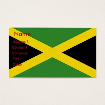 Business Card with Flag of Jamaica