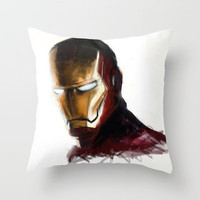 Ironman Throw Pillow by Emiliano Morciano (Ateyo) | Society6