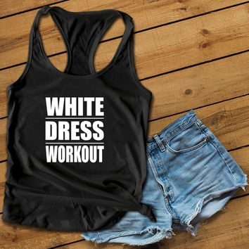 White dress workout Women's Ideal Racerback Tank