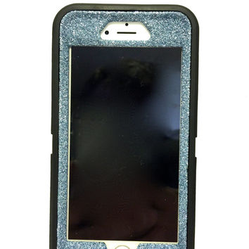 iPhone 6 (4.7 inch) OtterBox Defender Series Case Glitter Cute Sparkly Bling Defender Series Custom Case Black / blue topaz