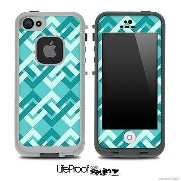 Locking Green Pattern Skin for the iPhone 5 or 4/4s LifeProof Case