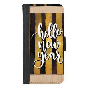 Hello New Year iPhone 8/7 Wallet Case
