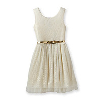 Beautees Girls' 7-16 Ivory Lace Dress at www.bostonstore.com