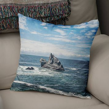 California Coast Throw Pillow Cover- 5 Sizes