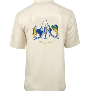Men's The Usual Suspects Embroidered Fishing Shirt