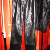 MODA INTERNATIONAL BLACK LEATHER PANTS FOR HIGH BOOTS! SIZE 0!