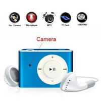 Blue Clip Style Digital Video Spy Camera MP3 Player for Sale at GadgetTown.com