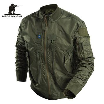 Mege Brand Men Tactical Military Clothing Fashion Jacket Bomber Army Parka Outdoor Windproof Multipockets Combat Airsoft Outwear