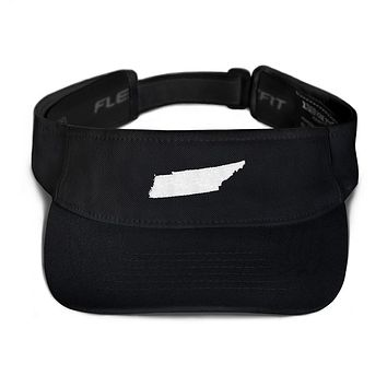 Tennessee Embroidered State Shape Visor