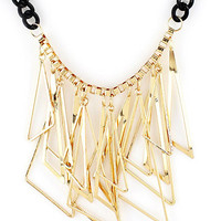 Triangle Cluster Collar Necklace