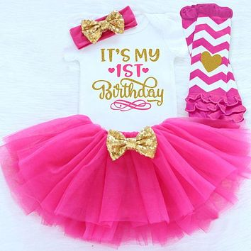 First Birthday - Baby Girl Tutu Dress Outfit Sets