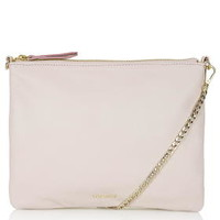 Leather Chain Crossbody Bag - Pink