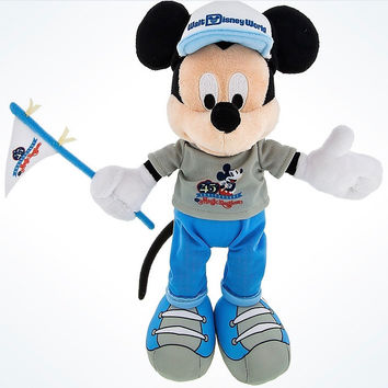 """Disney Parks 45th Anniversary Magic Kingdom 9"""" Mickey Mouse Plush New with Tags"""