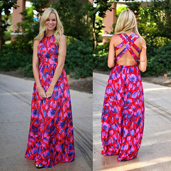 Sexy Womens Evening Party Dress Boho Summer Beach Long Maxi Dresses