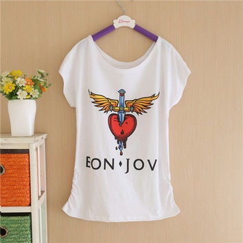 Summer New Brand T shirt Digital Print Minnie Cotton T-shirt Lady Batwing Sleeve Tshirt Tops Tee For Women SM6