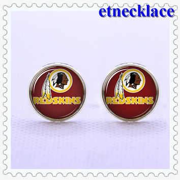 Cufflinks,NFL Washington Redskins  cufflinks, Mens Gift ,vintage  Charm Cufflinks,silvery  Metal cufflinks.