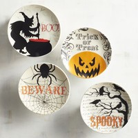 Witching Hour Appetizer Plate Set of 4