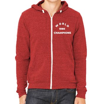 1980 World Champs Unisex Triblend Zip Up Hoodie